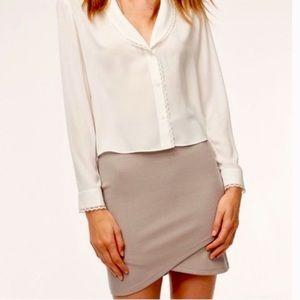Aritzia Sz Md Primrose Faux Wrap Skirt Size